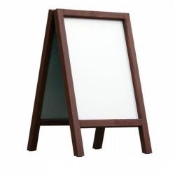 Dřevěný reklamní stojan Áčko A1 mahagon