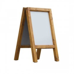 Dřevěný reklamní stojan Áčko A2 borovice