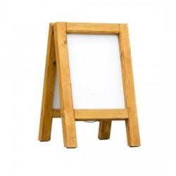 Dřevěný reklamní stojan Áčko A3 cedr