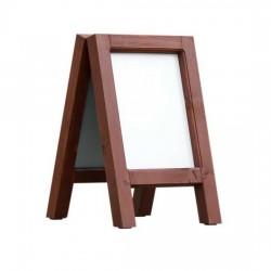 Dřevěný reklamní stojan Áčko A3 mahagon